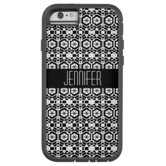 Funda Tough Xtreme Para iPhone 6 Modelo abstracto blanco y negro del hexágono