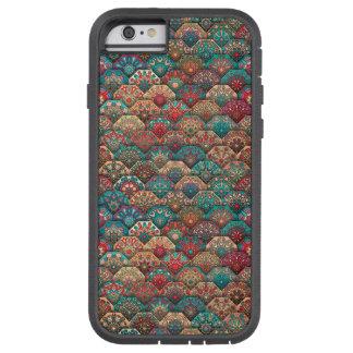 Funda Tough Xtreme Para iPhone 6 Remiendo del vintage con los elementos florales de
