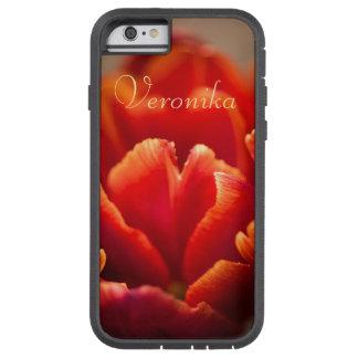 Funda Tough Xtreme Para iPhone 6 Tulipán rojo