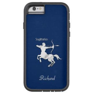 Funda Tough Xtreme Para iPhone 6 Zodiaco del sagitario de los azules marinos
