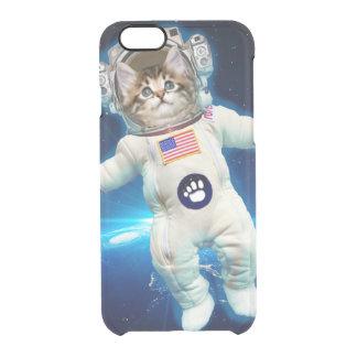Funda Transparente Para iPhone 6/6s Astronauta del gato - gato del espacio - amante