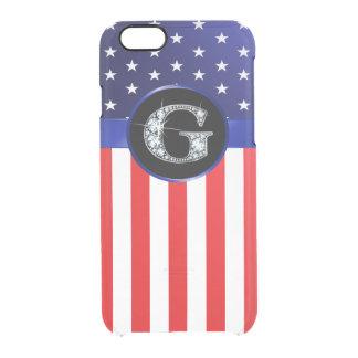 "Funda Transparente Para iPhone 6/6s Bandera de los E.E.U.U. Ameican con falso"""