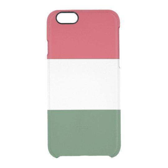 Funda Transparente Para iPhone 6/6s Bandera del caso claro del iPhone de Hungría