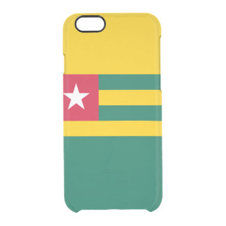 Funda Transparente Para iPhone 6/6s Bandera del caso claro del iPhone de Togo