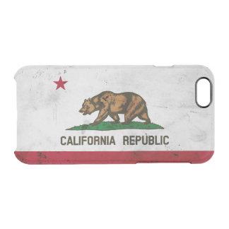 Funda Transparente Para iPhone 6/6s Bandera patriótica del estado de California del