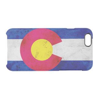 Funda Transparente Para iPhone 6/6s Bandera patriótica del estado de Colorado del