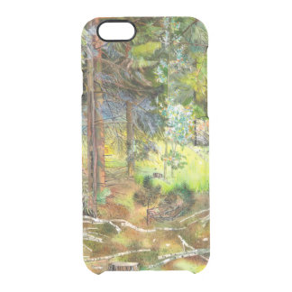 Funda Transparente Para iPhone 6/6s Bosque del pino