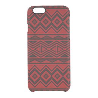 Funda Transparente Para iPhone 6/6s Caja azteca roja del iPhone 6/6s Clearly™