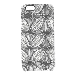 Funda Transparente Para iPhone 6/6s Caja Curvy blanco y negro del teléfono de las