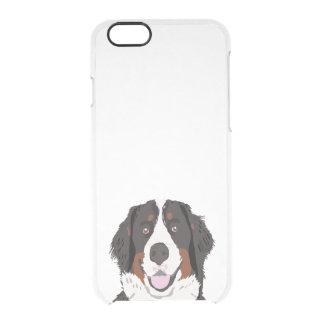 Funda Transparente Para iPhone 6/6s Caja del teléfono del perro de montaña de Bernese