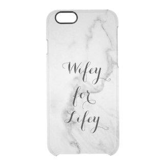 Funda Transparente Para iPhone 6/6s Carrara Wifey de mármol para el caso del iPhone