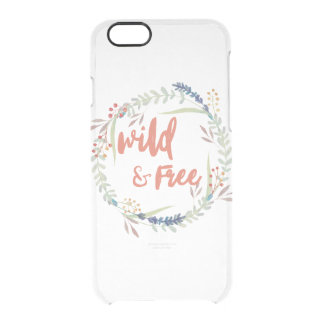 Funda Transparente Para iPhone 6/6s Caso claro salvaje y libre de Barely There Iphone