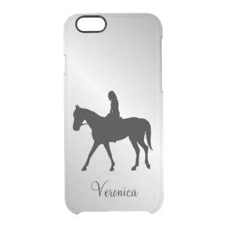 Funda Transparente Para iPhone 6/6s Chica en la plata del caballo