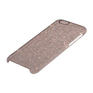 Funda Transparente Para iPhone 6/6s Chispas de bronce del brillo