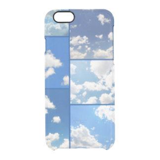 Funda Transparente Para iPhone 6/6s Collage de los cielos azules y de las nubes del