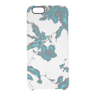 Funda Transparente Para iPhone 6/6s Color tropical claro del hielo de la flor