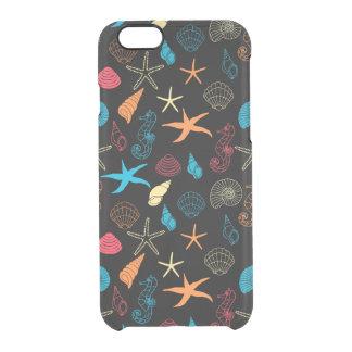 Funda Transparente Para iPhone 6/6s Criaturas coloridas del mar