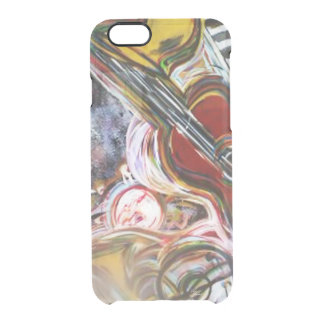 Funda Transparente Para iPhone 6/6s cubierta abstracta de la guitarra