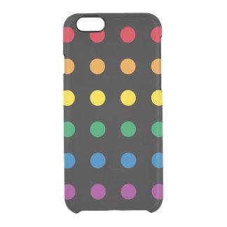 Funda Transparente Para iPhone 6/6s Diseño colorido del arco iris del orgullo el |
