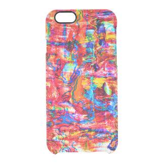 Funda Transparente Para iPhone 6/6s El extracto multi lindo de los colores agita la