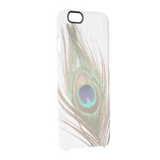 Funda Transparente Para iPhone 6/6s Elija la pluma del pavo real del color