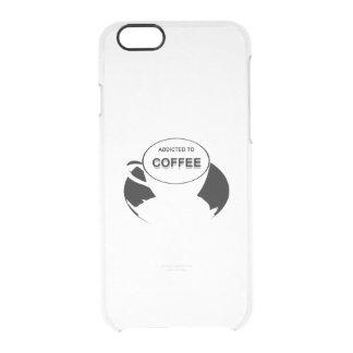 Funda Transparente Para iPhone 6/6s Enviciado al negro del café