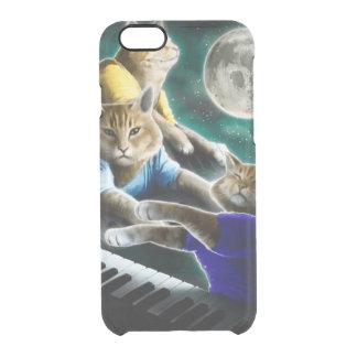 Funda Transparente Para iPhone 6/6s gato del teclado - música del gato - memes del