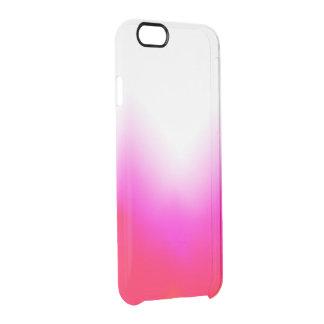 Funda Transparente Para iPhone 6/6s Hielo anaranjado rosado claro