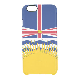Funda Transparente Para iPhone 6/6s La bandera de la Columbia Británica despeja el