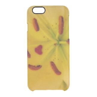 Funda Transparente Para iPhone 6/6s Lirio amarillo suave y soñador
