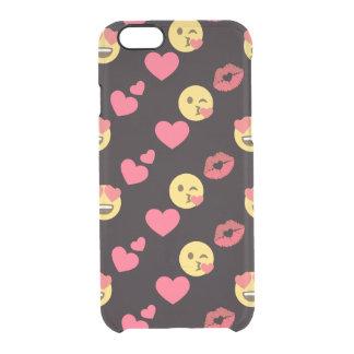 Funda Transparente Para iPhone 6/6s los corazones dulces lindos del amor del emoji