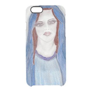Funda Transparente Para iPhone 6/6s Maria en azul