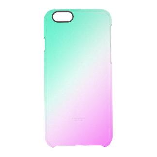 Funda Transparente Para iPhone 6/6s Mezcla verde y rosada del claro del hielo