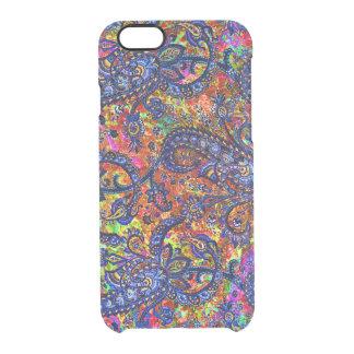 Funda Transparente Para iPhone 6/6s Modelo colorido lindo del chakra