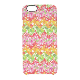 Funda Transparente Para iPhone 6/6s Modelo de zigzag colorido lindo del verano