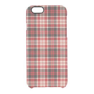 Funda Transparente Para iPhone 6/6s Modelo rojo y negro de la tela escocesa