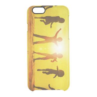 Funda Transparente Para iPhone 6/6s Niños que juegan en el verano en un embarcadero