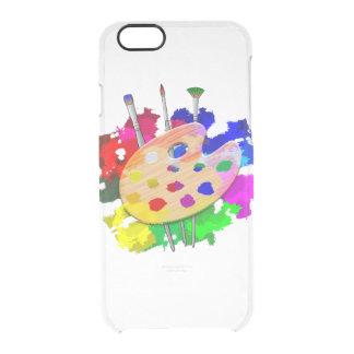 Funda Transparente Para iPhone 6/6s Paleta y cepillos del artista
