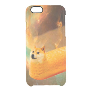 Funda Transparente Para iPhone 6/6s Pan del dux - dux perro-lindo del dux-shibe-dux