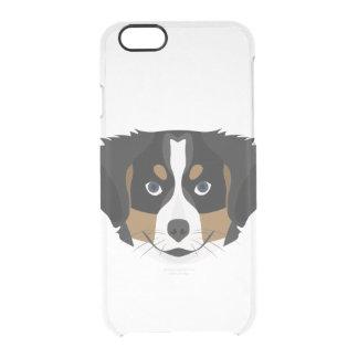 Funda Transparente Para iPhone 6/6s Perro de montaña de Bernese del ilustracion
