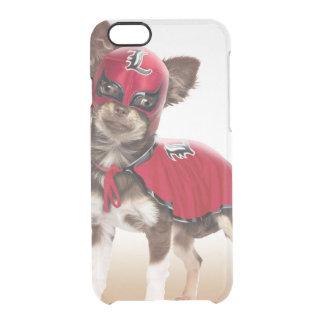 Funda Transparente Para iPhone 6/6s Perro del libre de Lucha, chihuahua divertida,