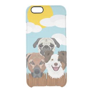 Funda Transparente Para iPhone 6/6s Perros afortunados del ilustracion en una cerca de