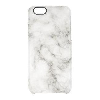 Funda Transparente Para iPhone 6/6s Piedra de mármol blanca negra de mármol de marfil