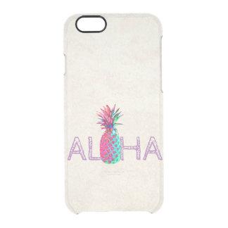 Funda Transparente Para iPhone 6/6s Piña adorable del Hawaiian de la hawaiana