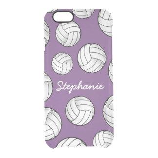 Funda Transparente Para iPhone 6/6s Púrpura conocida de encargo única del voleibol
