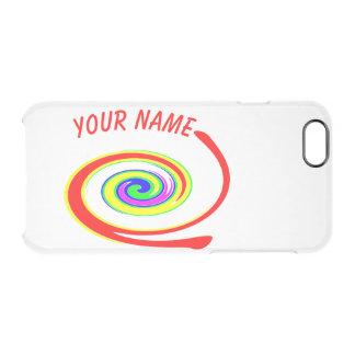 Funda Transparente Para iPhone 6/6s Remolino multicolor. Añada su texto