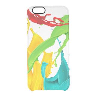 Funda Transparente Para iPhone 6/6s Salpicadura feliz de la pintura