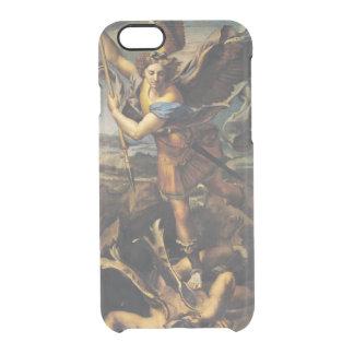 Funda Transparente Para iPhone 6/6s San Miguel que abruma al demonio, 1518