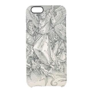 Funda Transparente Para iPhone 6/6s San Miguel que lucha con el dragón