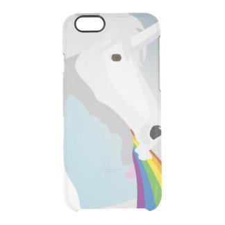 Funda Transparente Para iPhone 6/6s Unicornios puking del ejemplo